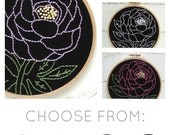 Floral embroidery kit, bold floral embroidery, flower embroidery pattern, DIY floral embroidery kit, floral theme craft, I Heart Stitch Art