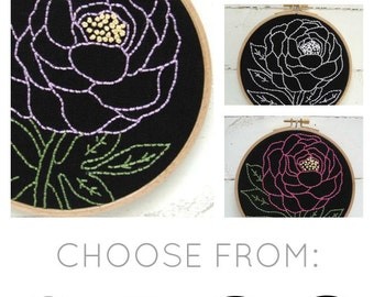 Peony Embroidery Kit