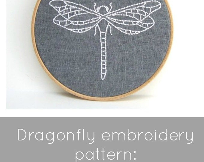 Dragonfly Embroidery Pattern: Digital Download