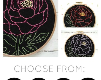 Peony Embroidery Kit {basic}