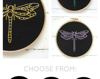 Dragonfly Embroidery Kit {black}