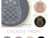 Easy hand embroidery kit, beginner embroidery kit, easy hand embroidery kit for beginner, owl embroidery pattern,  easy owl embroidery kit