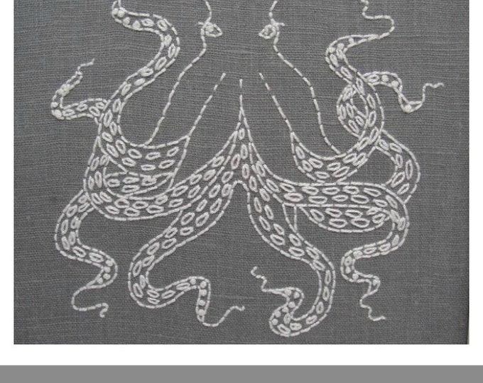 Octopus Embroidery Pattern - Digital Download