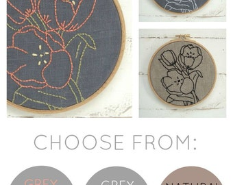 Tulips Embroidery Kit