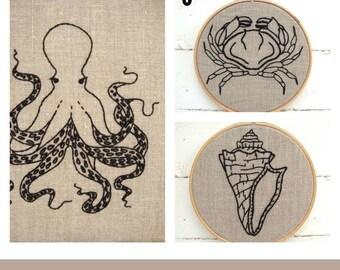 Embroidery Kit Set {natural + black}