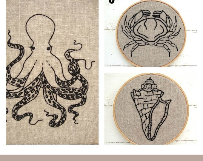 Embroidery Kit Set {natural + black}