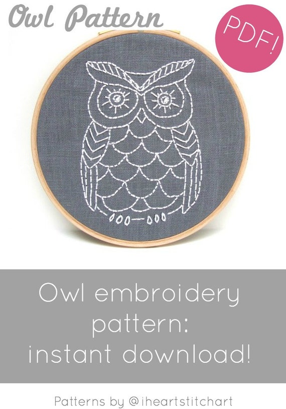 Hand Embroidery Pattern Modern Hand Embroidery Pattern Diy Etsy