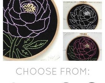 Peony Embroidery Kit