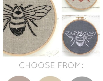 Bee Embroidery Kit {natural + black}