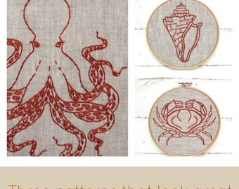 Embroidery Kit Set - Ocean Theme