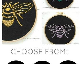Bumblebee Embroidery Kit (black)