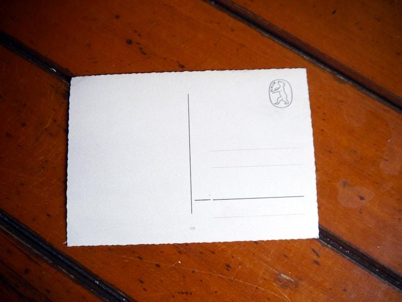 Vintage postcard from Berlin 5060s divided Berlin card 60s souvenir tourist card Berlin highlights