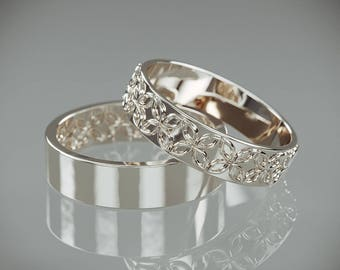 His And Hers Wedding Bands Etsy