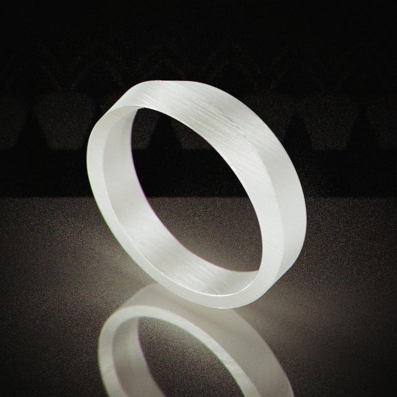 White Gold Knife Edge Men Wedding Ring Handmade Solid 14k Etsy