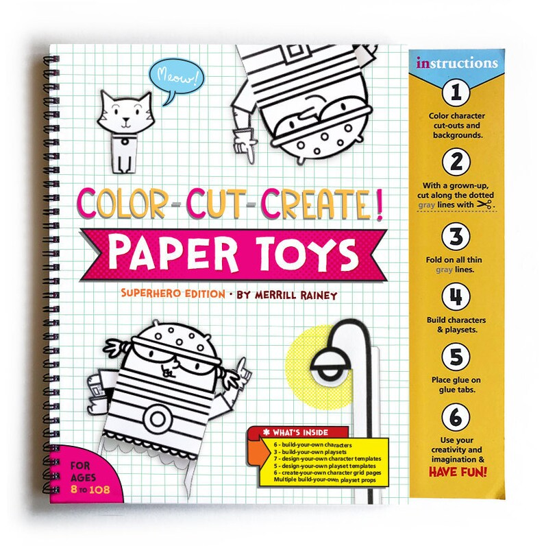 Color-Cut-Create Paper Toy activity book Superhero edition image 0
