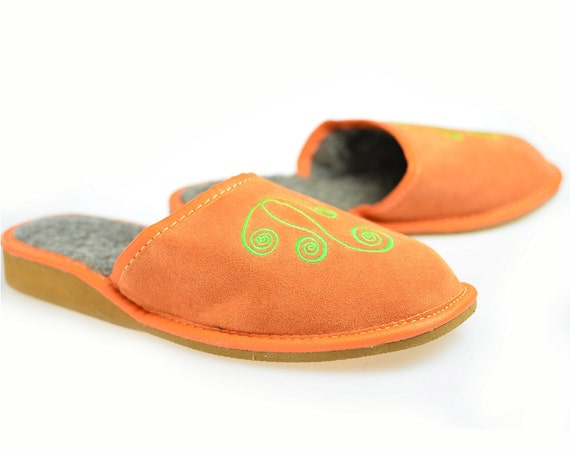SALE Women s Natural Leather slippers Very light  a68cb55758