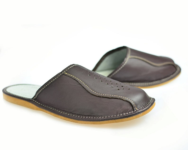 d22b628b7b0 Mens House Slippers Leather Slippers Moccasin Shoes Boot
