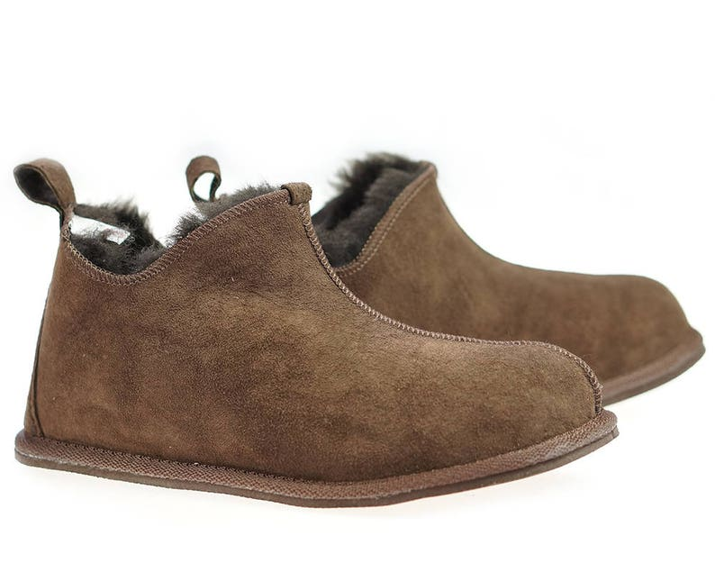 446bfae3b1 Mens Sheepskin Shearling Slippers Moccasin Boots for Men House