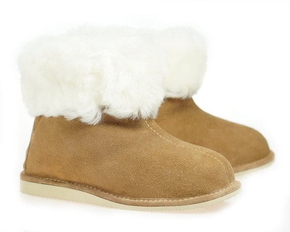 various styles really comfortable official photos Mens Sheepskin Shearling Slippers Moccasin Boots for Men House Sheepskin  Slippers Handmade Shoes 100% Wool Slippers ugg style Best