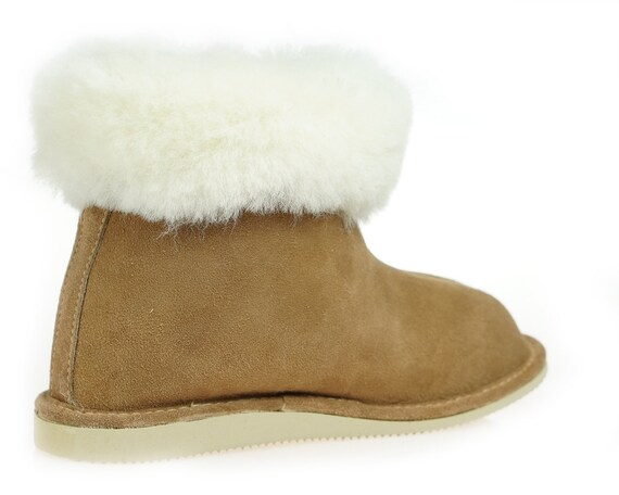 Slippers ON light wool shoes Leather Very Genuine Natural and gift SALE Good Women boots comfy XqrzXT
