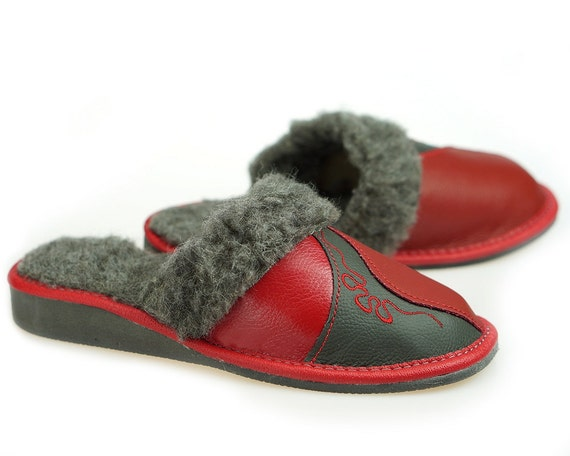 SALE Women s real leather slippers lined Very light  bf79b1f044