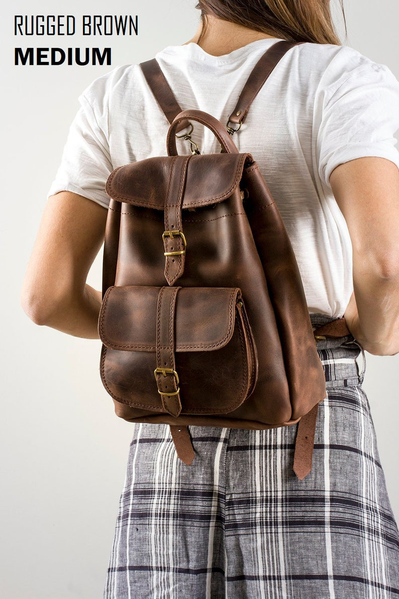 Rucksack purse Leather bag Travel backpack Women Bag Women Rucksack Small leather backpack Hipster backpack Leather backpack
