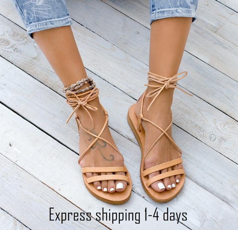 TILOS Leather sandals Greek leather sandals gladiator image 0