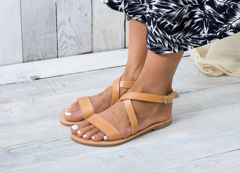 Naxos FlatEtsy Greek Leather Sandals Greek Naxos UVMSzp