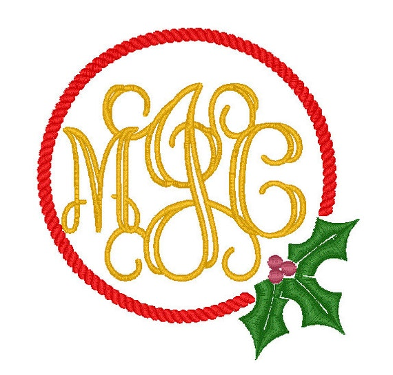 4x4 5x7 6x10 Holly Rope Monogram Frames Instant Download Etsy