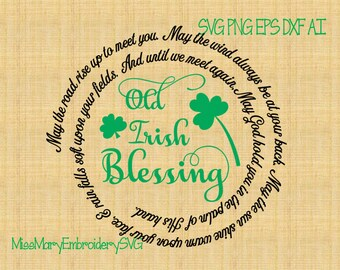 SVG Old Irish Blessing File Cutting File DXF, AI Commercial Personal Use