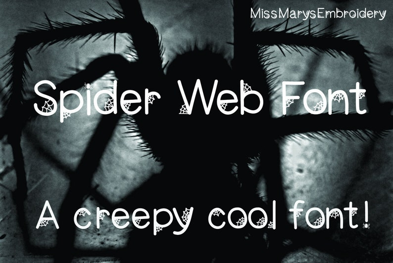 Spider Web Font | Spider Font | Halloween Font | TTF | True Type Font |  Personal Small Commercial Use