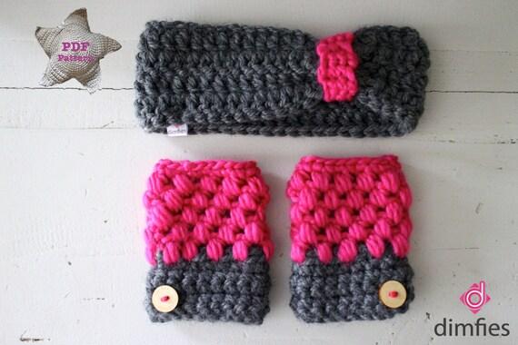 Haakpatroon Handschoenen En Hoofdband Etsy
