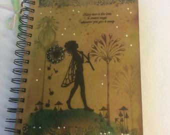 Make a wish - magical fairy notebook