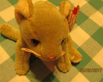 be704e4090f Scat the Cat Ty Beanie Baby With Errors Collectable Cat