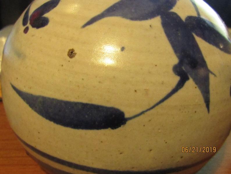 Handmade Pottery Blue Vase #9