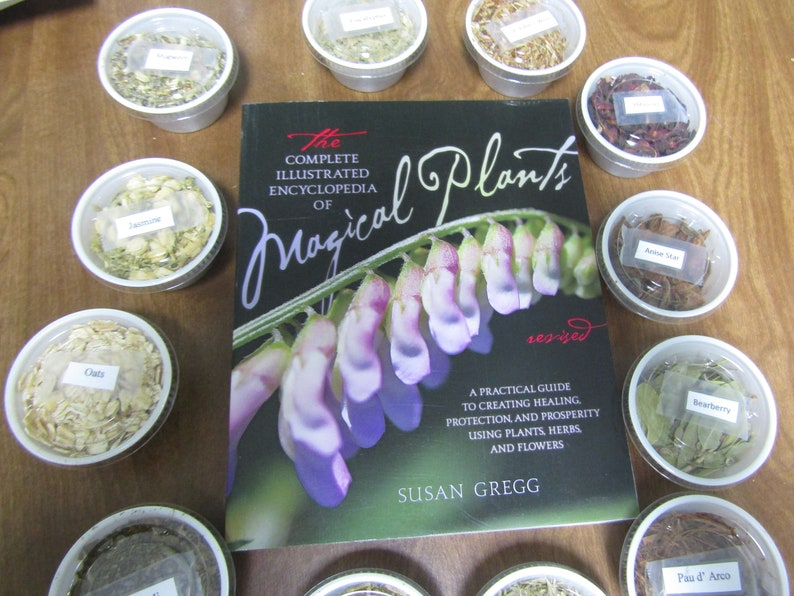 The complete Illustrated Encyclopedia of Magical Plants by Susan Gregg Plus  13 Herbs Kit