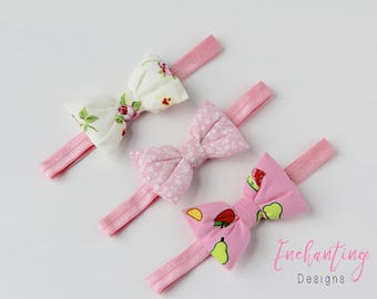 Pink Headbands, Girl's Headbands, Floral Headbands, Pink Headbands, Fruit Headband, Bow Headbands, Baby Headbands, Baby Bow Headbands