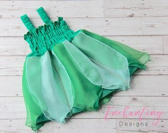 Green Fairy Dress, Girls Fairy Dress, Woodland Fairy Costume, Kids Fairy Costume, Toddler Fairy Dress, Girls Fairy Costume, Tinkerbell Dress