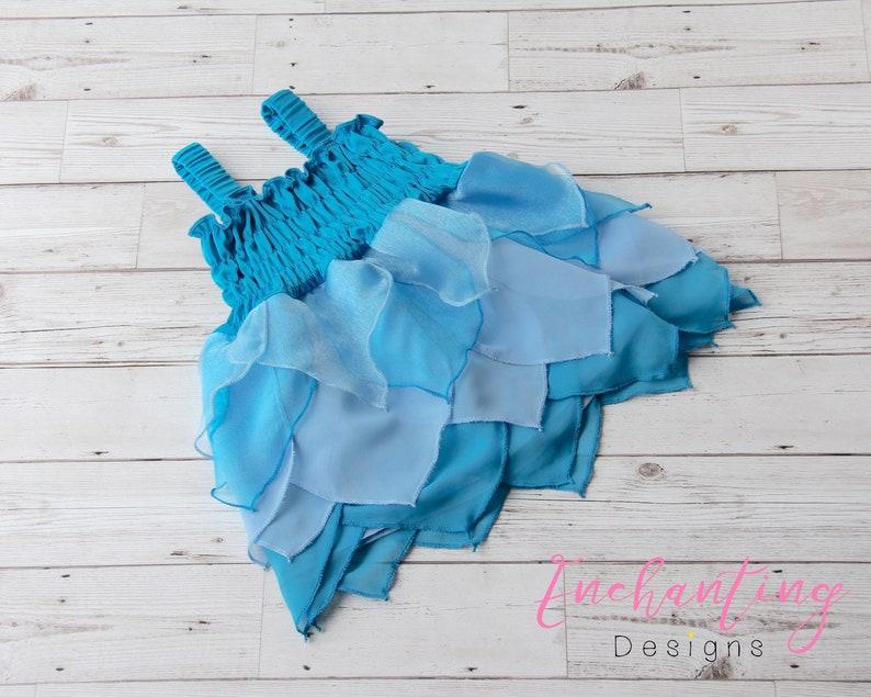 Kids Fairy Dress Girl/'s Mermaid Costume Girl/'s Fairy Dress Blue Fairy Dress Kids Mermaid Dress Toddler Fairy Dress Baby Fairy Costume