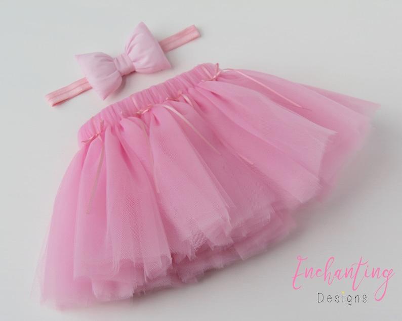 4204805a561f21 Pink Tutu Pink Tulle Skirt Pink Ballet Tutu Pink Tutu Set