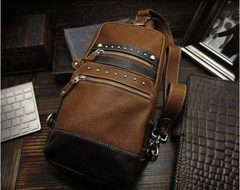 Leather Backpack  Brown K05D52