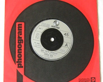 """Status Quo What You're Proposing 7"""" vinyl single record 45 rpm 1980 in company sleeve gift for rock music fan"""