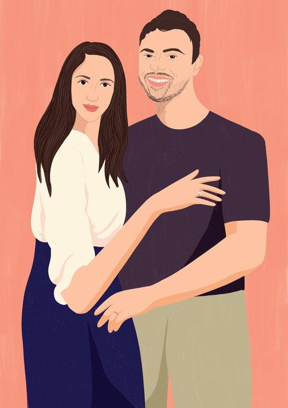 Custom Couple/'s Portrait