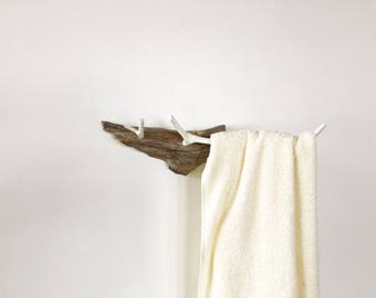 Houten handdoekenrek houten rek badkamer hanger exclusieve etsy