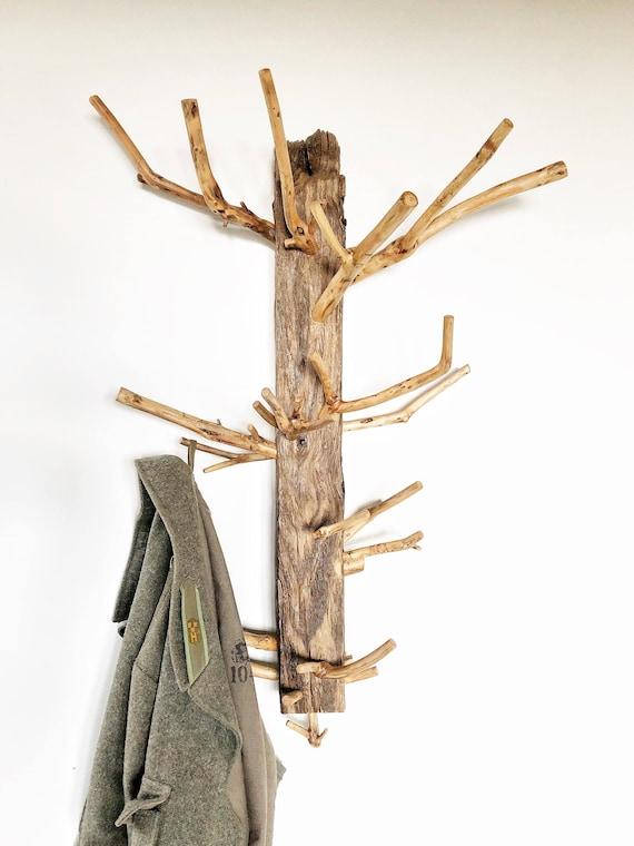 Wooden coat rack River driftwood coat rack Handmade coat
