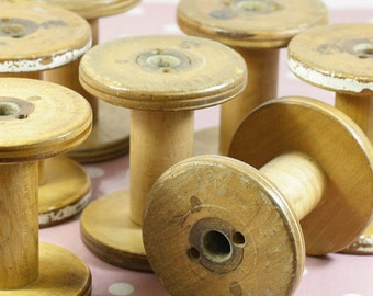 Wooden Spool - Approx 112x100. Vintage