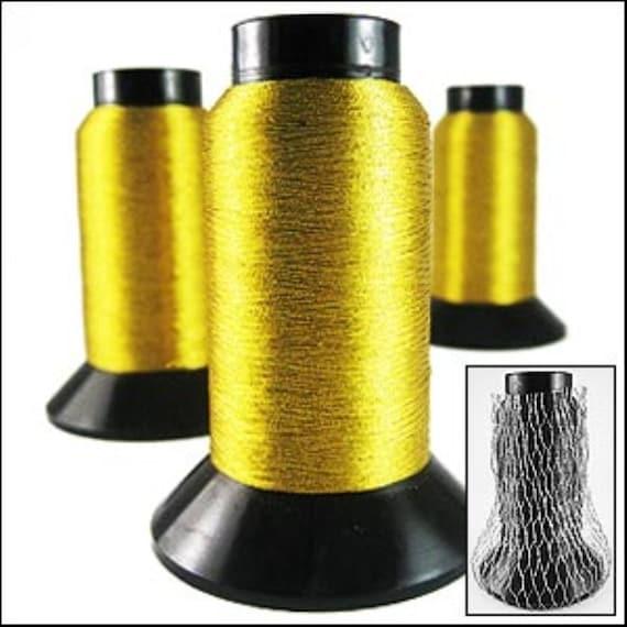 Embroidery Thread Bright Gold Lurex Thread 1000m Jr04922 Etsy