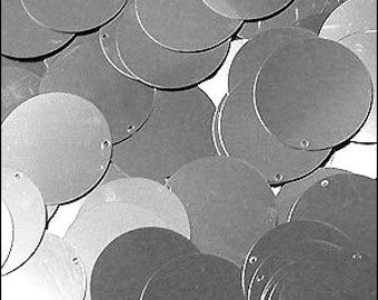 Sequin discs. 24mm. Silver. Pack of 250 JR02829
