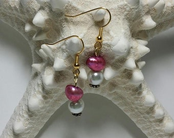 Cultured Easter Pearl handmade earrings