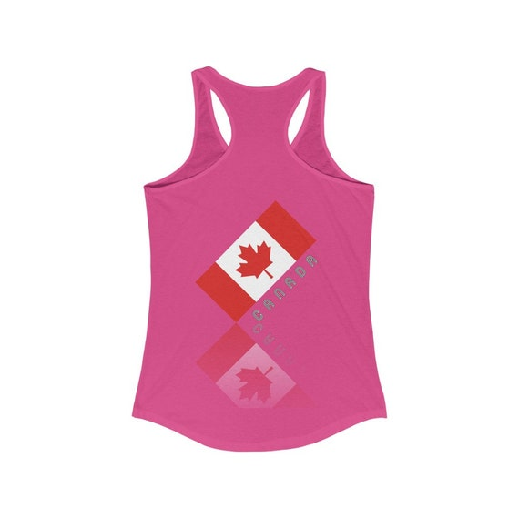 Women/'s Ideal Racerback Elegant Maple Leaf Canada Tank